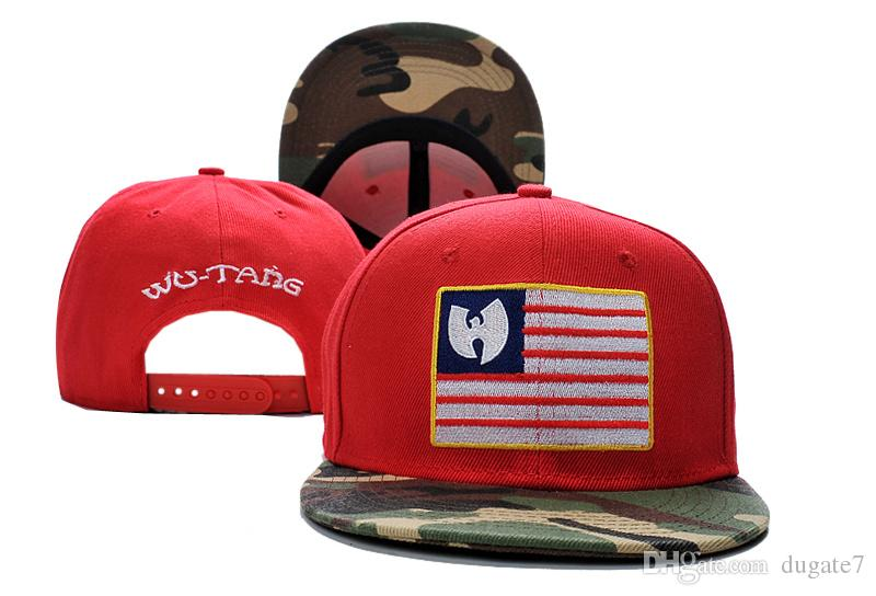 Good Sale New Arrivals Wu Tang camo USA flag Mens bones swag Gorra Baseball Caps Adjustable Gorras Snapback Hats For Adult