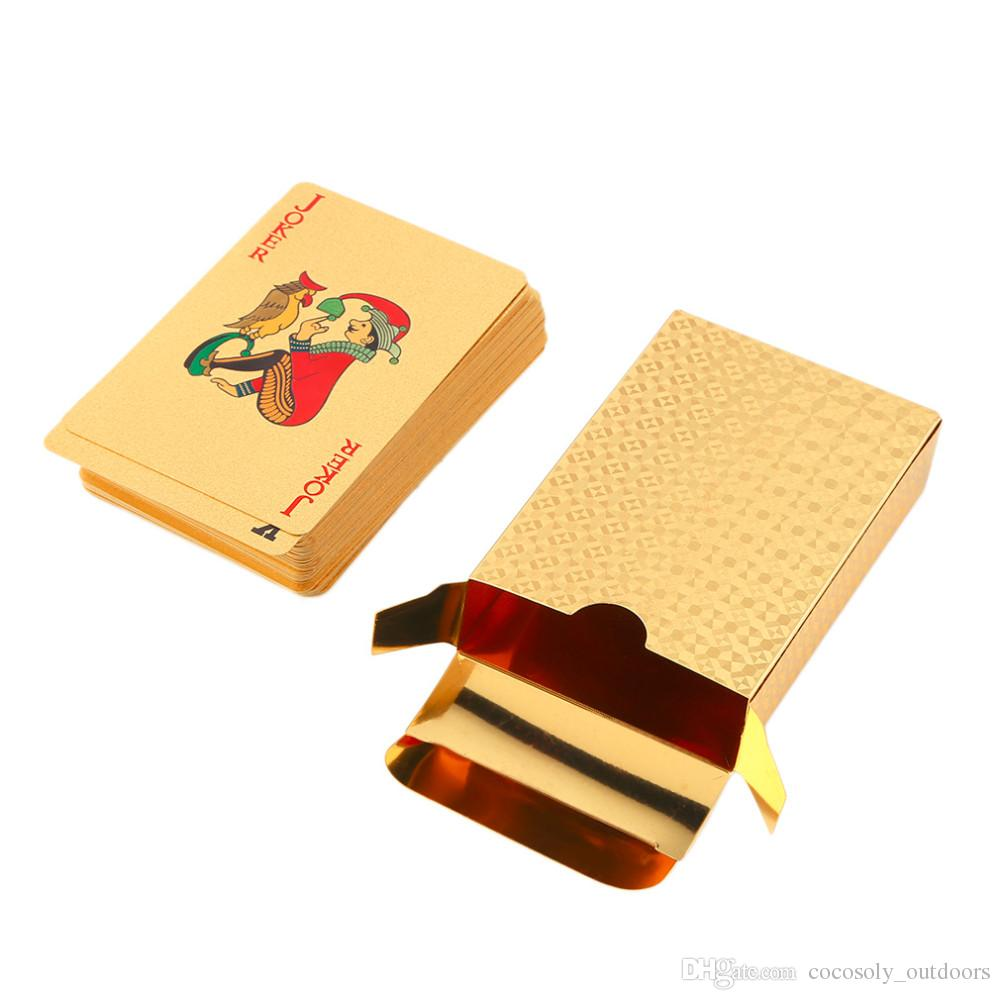 Playing Cards 24k Gold Plated Full Poker Deck Pure With Box Christmas Gift
