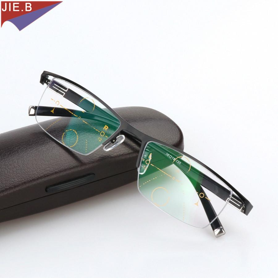 a4bd0a3fcd Compre Aleación De Titanio Zoom Inteligente Gafas De Lectura  Asintóticamente Progresivas Medio Borde Presbicia Comercial Hipermetropía  Gafas Multifocales A ...
