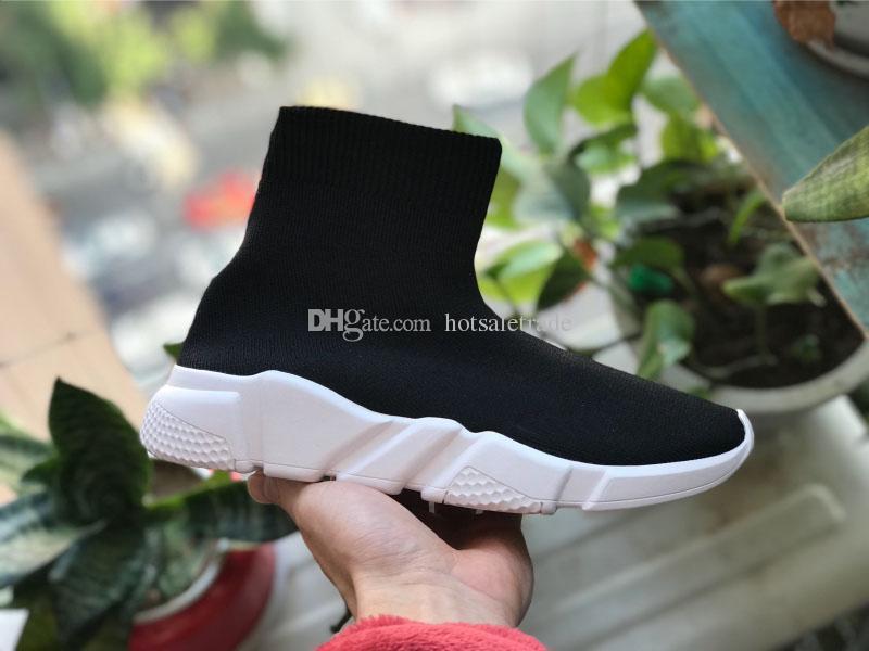 Çorap Ayakkabı Casual Ayakkabı Hız Eğitmen Yüksek Kalite Sneakers Hız Eğitmen Çorap yarışı Koşucular siyah ayakkabı erkek ve kadın Ayakkabı