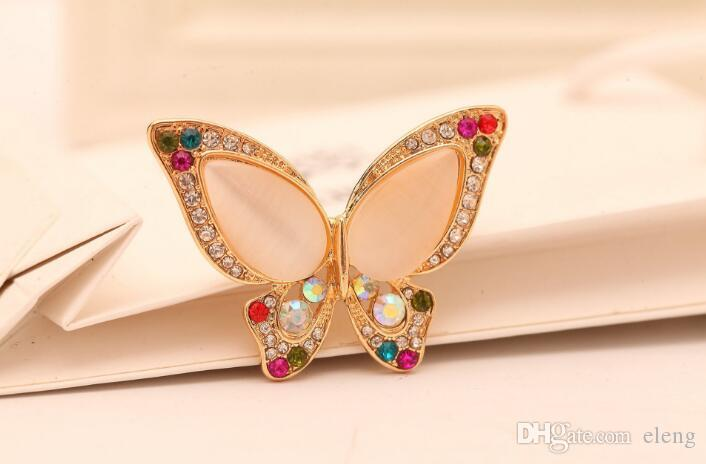 United States Cute men girl diamond butterfly Brooch brooches rhinestone Clothing accessories Pins Party Prom Women pin 44