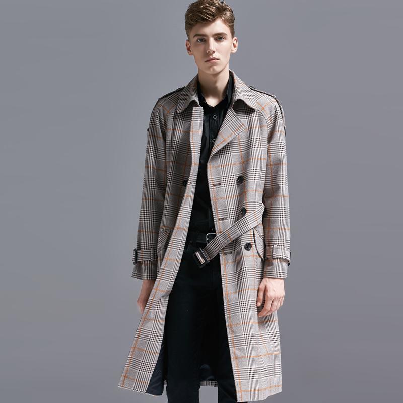 d0932b8f4dc 2019 S 6XL !!! New Men Clothing Fashion Lattice Overcoat Autumn Winter  Retro Collegiate Plus Size Outerwear Coat From Luhaluha