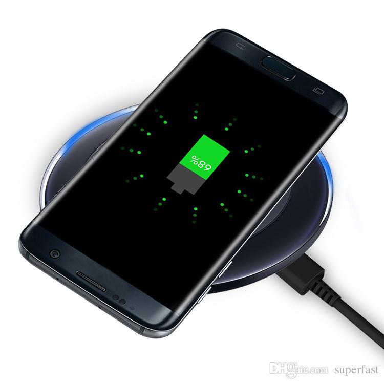 Para iphone x qi carregador sem fio pad cabo de carregamento sem fio para samsung nota 8 iphone 8 plus galaxy note 5 com cabo usb na caixa de varejo