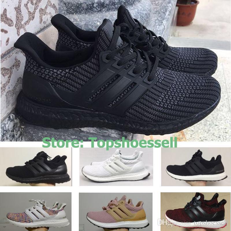 new style 44f49 9f380 Ultra Boost 4.0 Triple Black White Primeknit Oreo Blue Grey Ultra Boosts  3.0 Men Women Running Shoes Ultraboost 3 Sport Sneakers EUR36-45