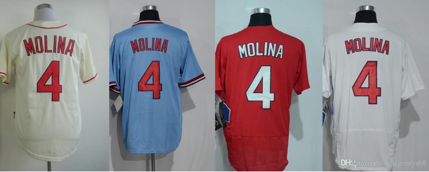 newest a69b6 61ab8 coupon code mitchell and ness cardinals 4 yadier molina red ...
