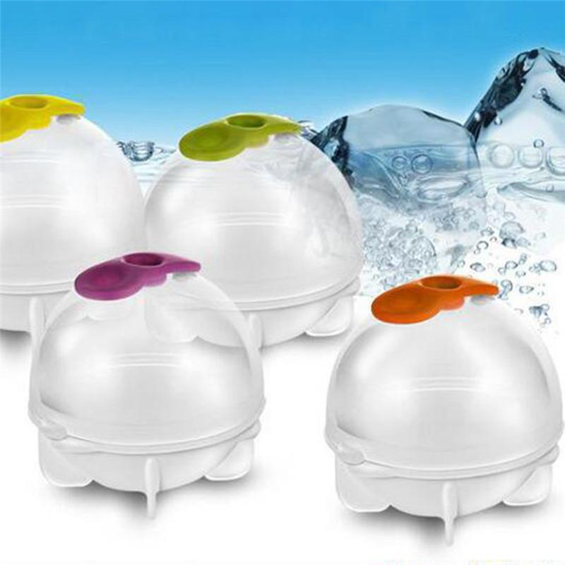 4pieces/set FDA Big Size Ball Mold Spherical Round Ice Cubes Maker DIY Ice Cream 6cm Diameter Bar Cooler 4pieces/set FDA Big