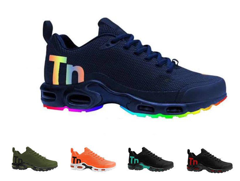 online store be181 3e171 Compre Novedades Zapatillas Hombre Mercurial TN Plus SE NIC QS Zapatillas  De Correr High Qualty Tns Azul Gris Negro Blanco Chaussures TN Requin  Sneakers A ...