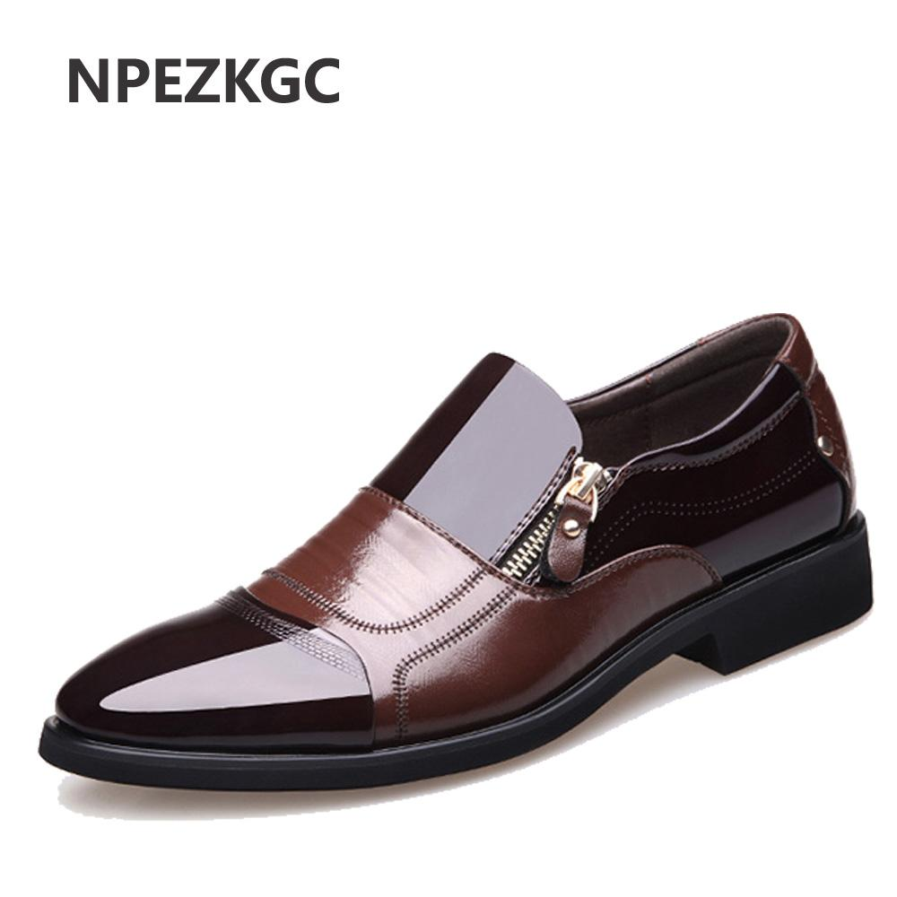 a533ff009a9a New Spring Fashion Oxford Business Men Shoes Genuine Leather High ...