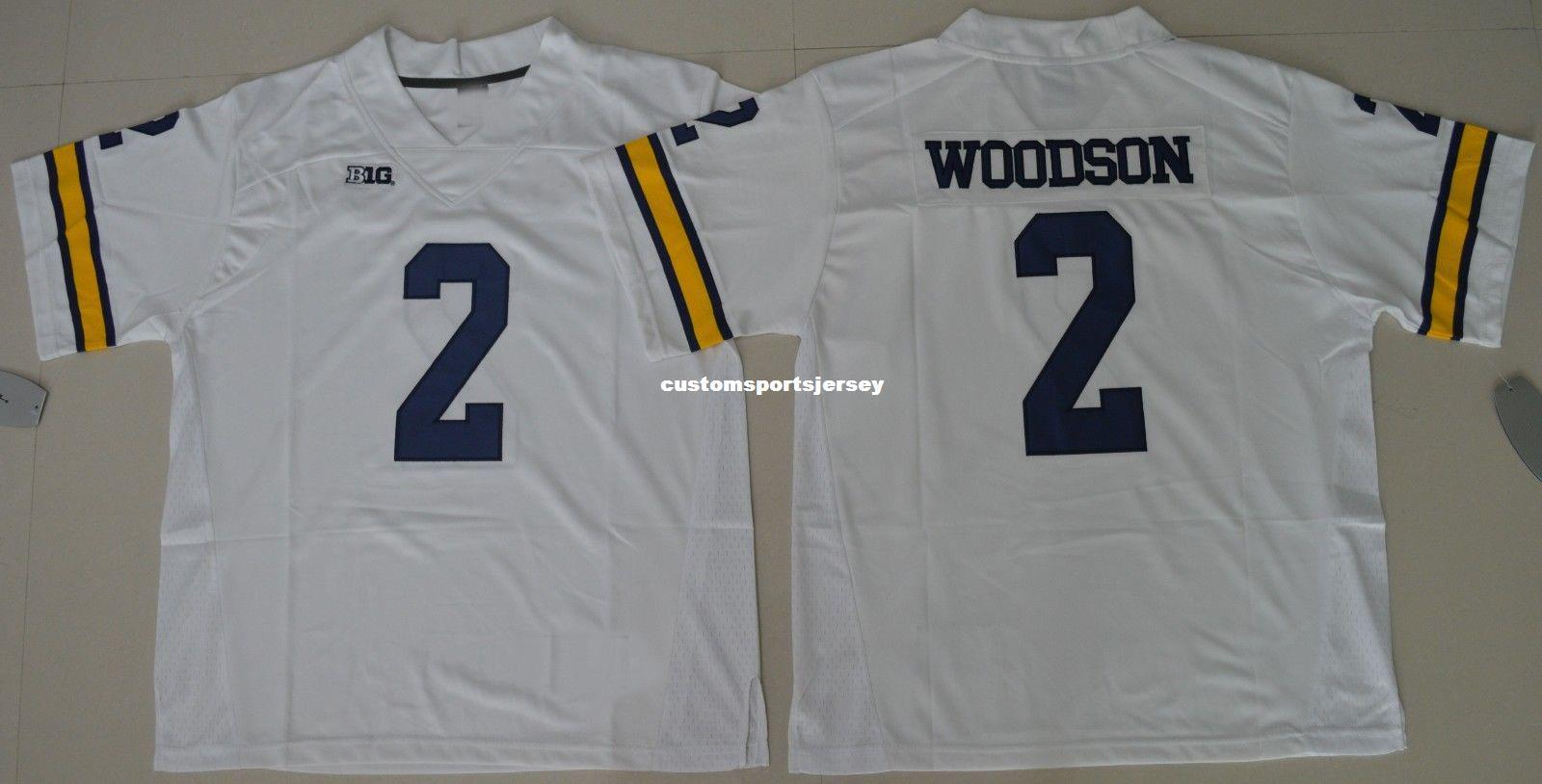 83b534b0878 2019 Cheap Custom Michigan Wolverines Charles Woodson  2 College Football  Jersey White Stitched Customize Any Number Name MEN WOMEN YOUTH XS 5XL From  ...