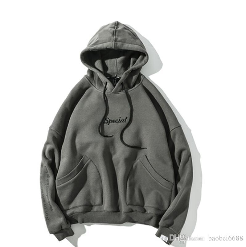 a896957d4ed1 2018 Original Autumn And Winter Side Pockets And Velvet Hooded ...