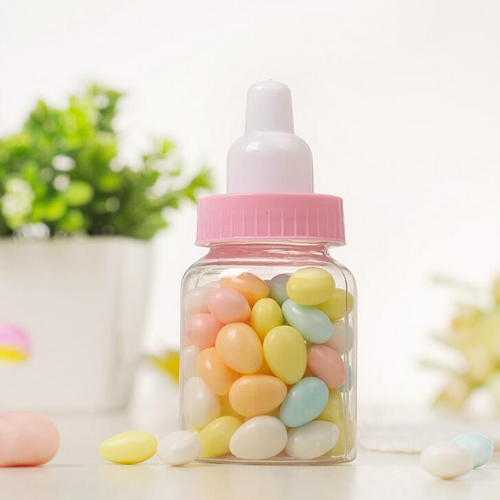 Baby-Dusche-Pralinen-Kasten-Flaschen-Rosa-Mädchen-Blau-Jungen-Geburtstagsfeier-Bevorzugungen Weihnachtsgeschenk-Hochzeitsfest-Dekoration Babyshow