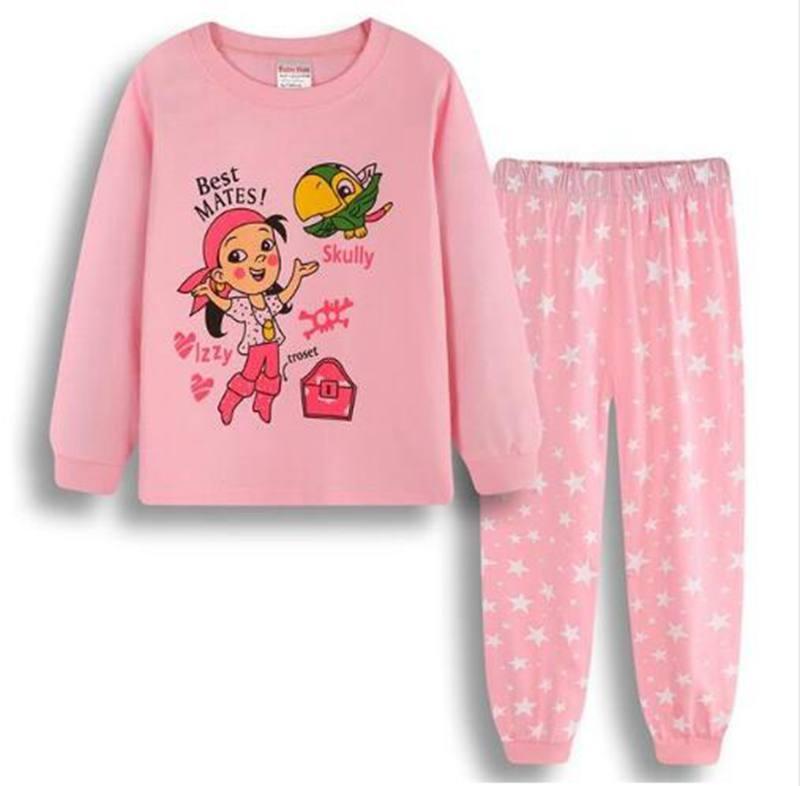 009dd48f3c Compre Nuevo Otoño Bebé Niñas Pijamas Establece Traje Deportivo De Manga  Larga T Shirt + Pantalones Niños Ropa De Dormir Niños 2 7 Años Establece  Pijama A ...