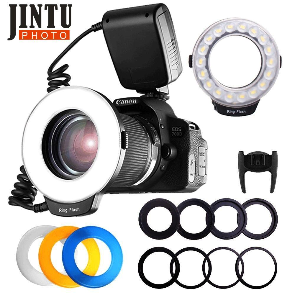wholesale RF-550 Macro 48 LED Ring flash Light for Canon 750D 760D T6i T6s 7D Mark II T2i T3i T4i T5 550D 600D 650D 700D Camera