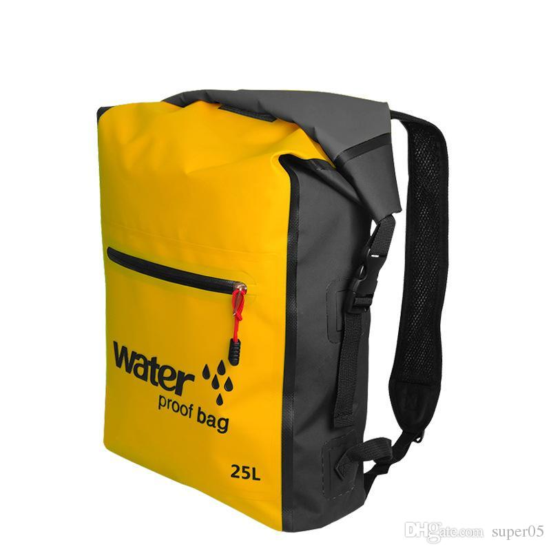 25L Outdoor Waterproof Bag Backpack Sack Storage Bag Rafting Sports  Kayaking Canoeing Swimming Bags Travel Kits Backpacks Online with   17.41 Piece on ... ac4b2b19d8cb8