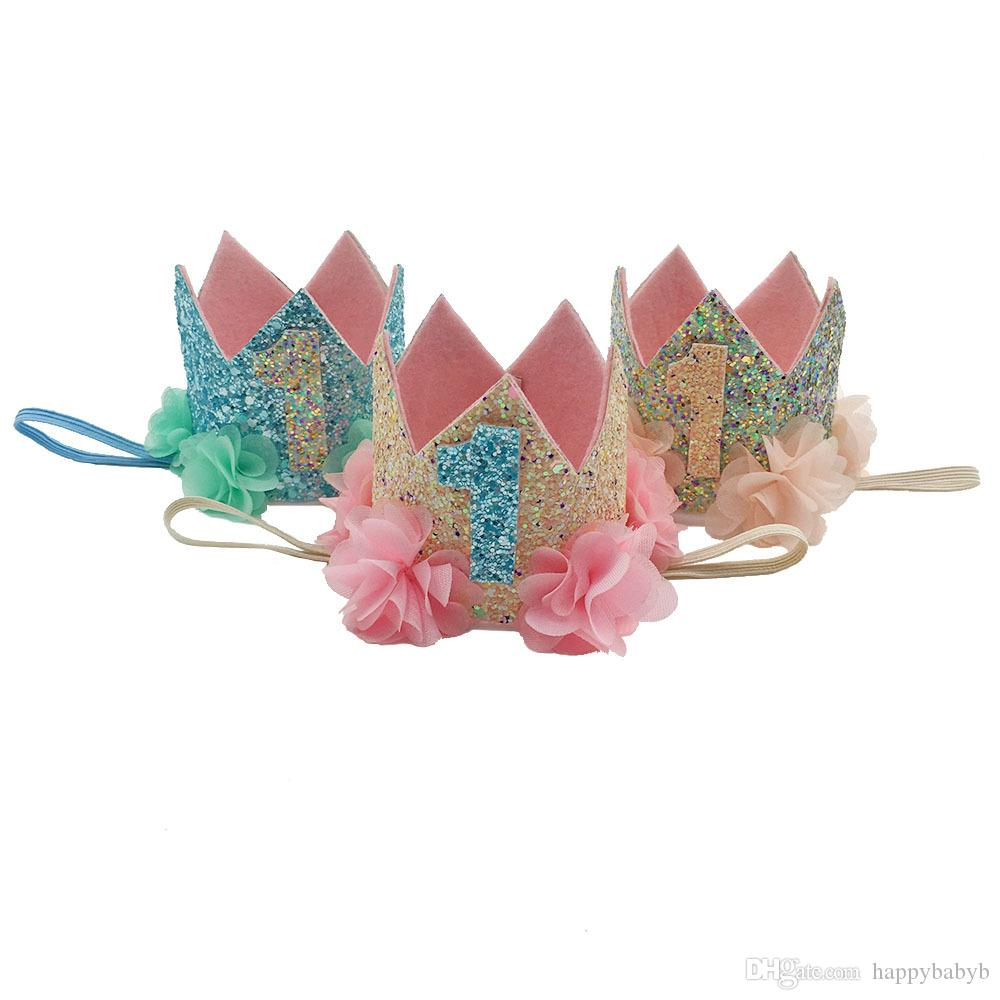 Девочки Русалка ободки девушки День Рождения пляжная вечеринка тиара hairbands дети принцесса аксессуары для волос блеск блеск симпатичные ободки