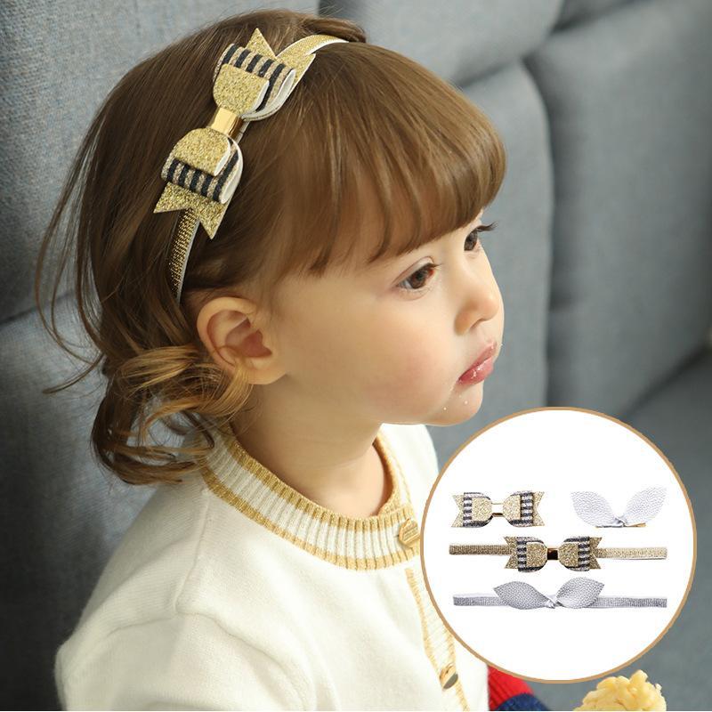 2018 New Cute Gold Bowknot Turban Headband Baby Girls Kids Hair Bows Head  Bands Wrap Accessories For Children Headdress Headband Hair Accessories For  Teens ... 6bcd06c3cac