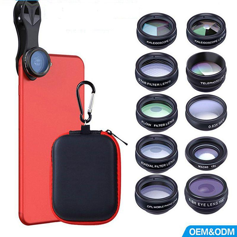 970a4f15b4995e 2019 A 10in1 Phone Camera Lens Kit Fisheye Wide Angle Macro 2X Telescope  Lens For Iphone Xiaomi For Samsung Android Phones From Vickyhouse001, ...