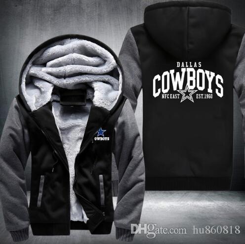 hot sale online 0df42 30b2b 2018 Hot Fashion Dallas Winter Autumn Women Men s Hoodies Cowboys Zipper  Jacket Casual Sweatshirts Thicken Coat Cashmere Hoodie