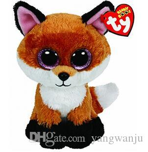 Ty Beanie Boos 6 Inch Slick Brown Fox Plush Beanie Baby Plush