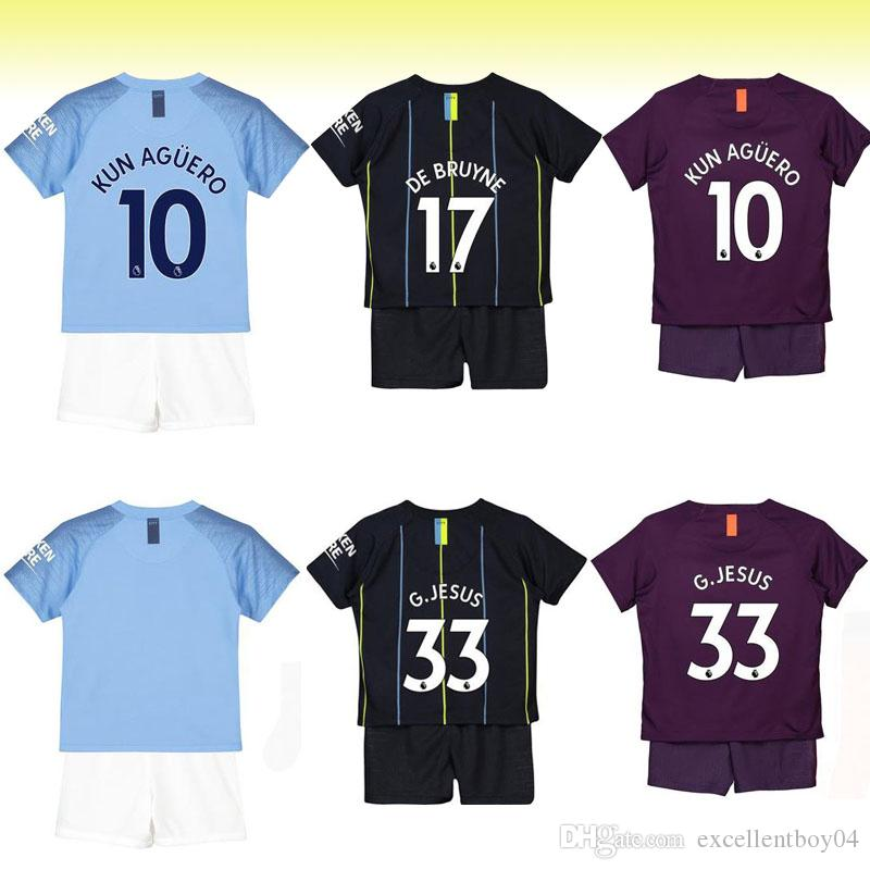 ... cheapest 10 kun aguero kid soccer jersey home away 3rd away kid kit . 18  19 2a1fd2271