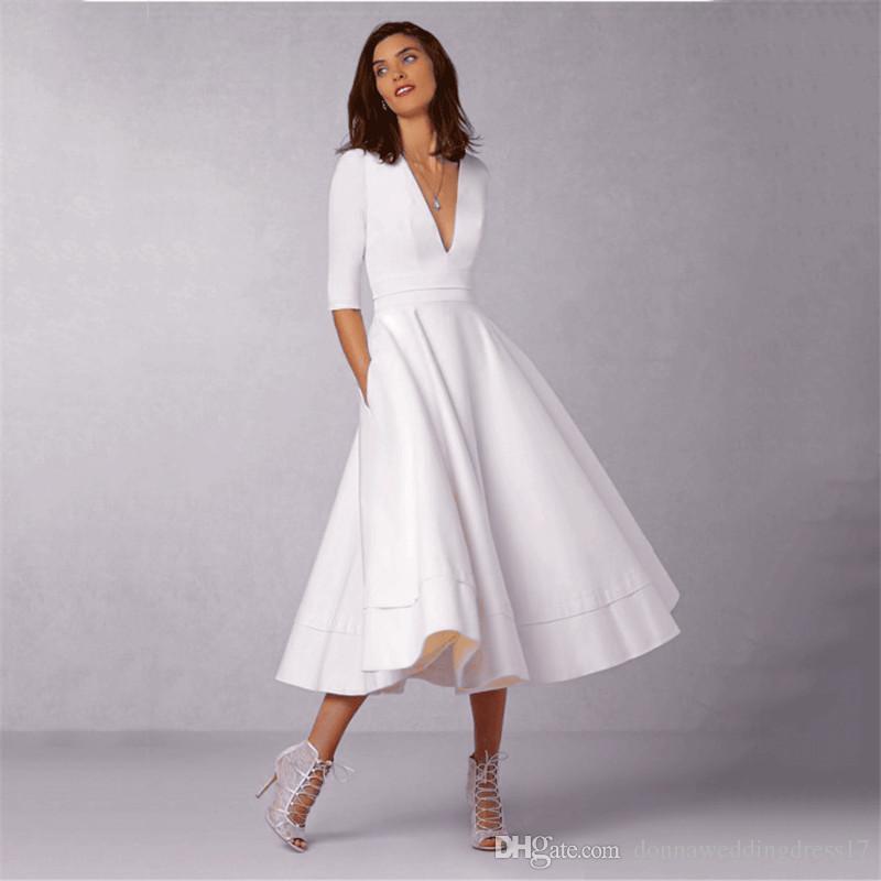1abf3e9f8bc6 Vintage Summer Dress Women 2018 Plus Size Elegant Ball Gown Dress Female  Sexy V Neck Long Dress Casaul White Vestidos 3XL Dresses Dresses Women Long  Dresses ...