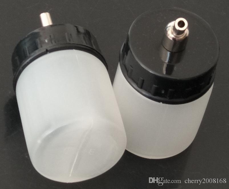 Wit Platic Airbrush Flessen voor Groothandel - 22cc Nieuwe 10 Stks Airbrush Air Borstel Witte Fles Jar / Standaard Zuigerklid