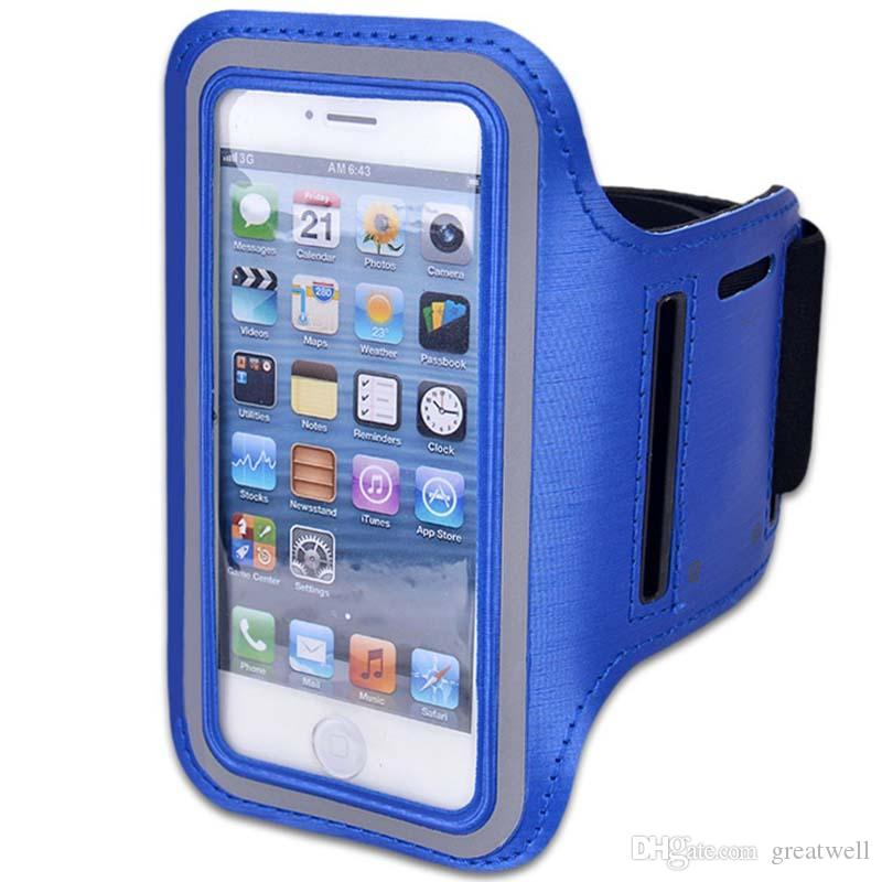 Waterproof Sports Running Gym Armband Case Exercise Arm Band Neoprene Strap Jogging Fitness Smart Phone Cover Holder Pouch For iPhone Galaxy