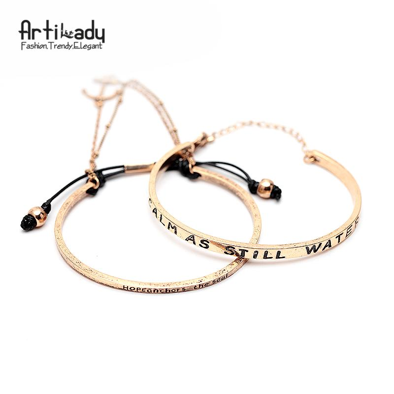 e39989390 Whole SaleArtilady Set Antic Silver Cuff Bangle Letters Design With Handmade  Bangles For Women Jewelry Party Gift Dropshipping White Gold Bangle Bracelet  ...