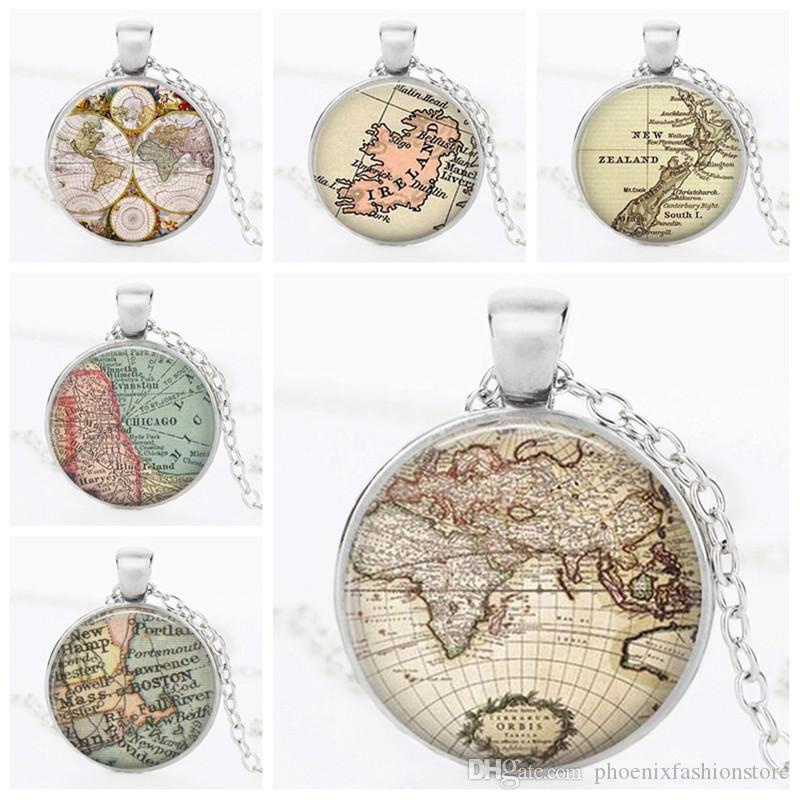 Wholesale vintage old world map necklace globe pendant map jewelry wholesale vintage old world map necklace globe pendant map jewelry travelers gift map lovers gift women jewelry accessories gift drop shipping pearl pendant gumiabroncs Image collections