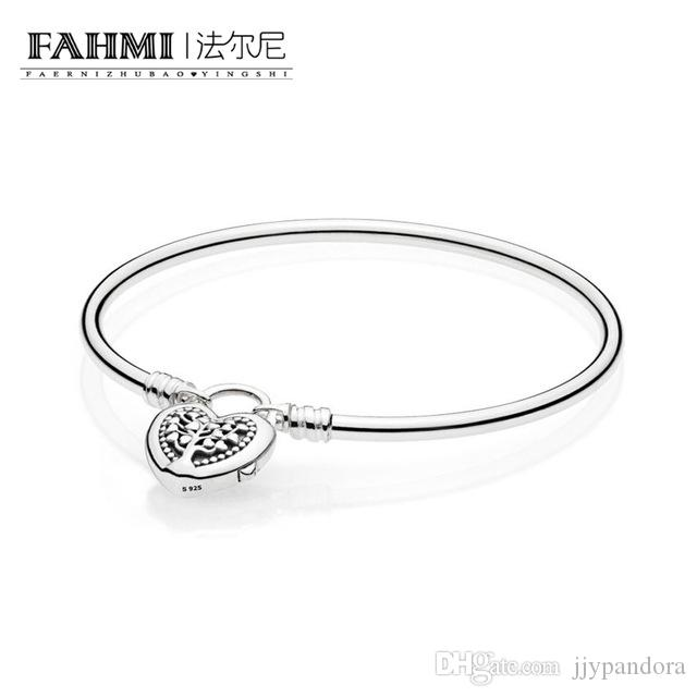 FAHMI 100% 925 Sterling Silver 1:1 Authentic Classic 597101 MOMENTS BANGLE Glamour Vintage Women Bracelet Jewelry