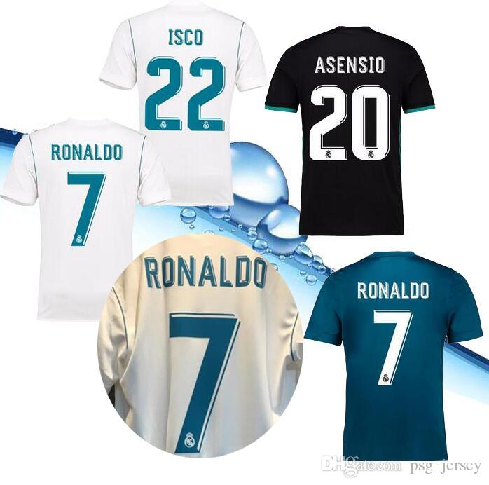 2e1280f60 2019 Quality AAA+ 17 18 Real Madrid Home Away Jersey Ronaldo Soccer Jersey  MODRIC LUCAS V MORATA BALE KROOS ISCO BENZEMA Football Shirts Jersey From  ...