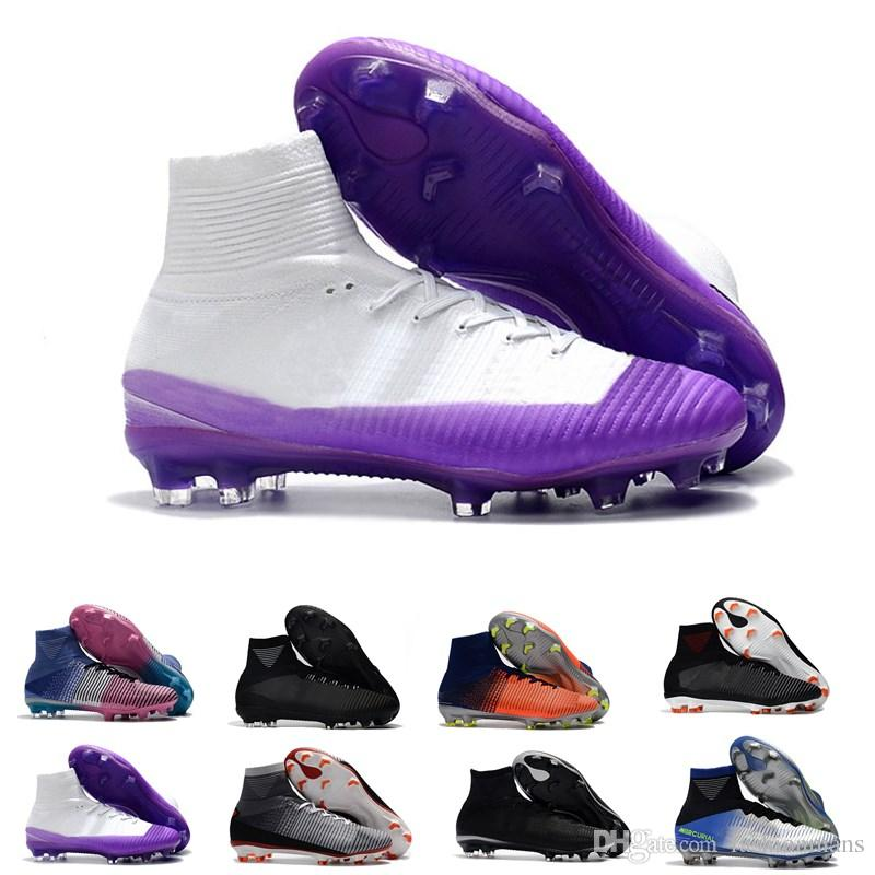 2019 High Top Men Kids Soccer Shoes Mercurial CR7 Superfly V FG Boys  Football Boots Magista Obra 2 Women Youth Soccer Cleats Cristiano Ronaldo  From ... 21b659d6b