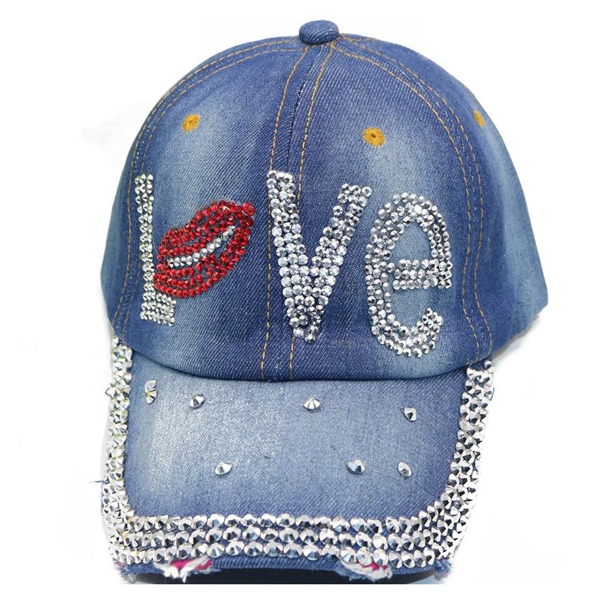 2d6e513ac02063 MYPF Women Girls Baseball Caps Rhinestone Moustache Shape Denim Baseball  Cap Hat Dark Blue Superman Cap Hat Embroidery From Wutiamou, $24.73|  DHgate.Com