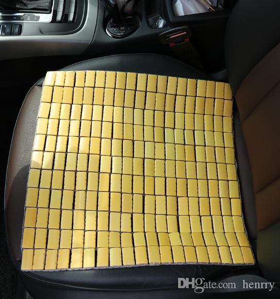 New Arrive 2019 Bamboo Car Seat Covers Free Clipping Square Bamboo Pad Car Cool Pad Mahjong Pads Seat Cushion Free Cut