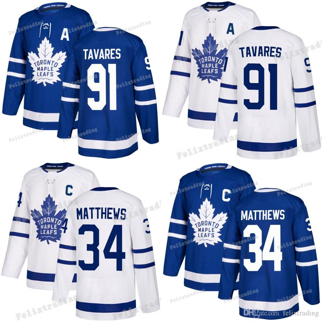 2019 Women Youth Men  91 John Tavares Jersey With A Patch 34 Auston Matthews  With Captain C Patch 2019 Toronto Maple Leafs Hockey Jerseys From  Felixtrading a2a5e18f4