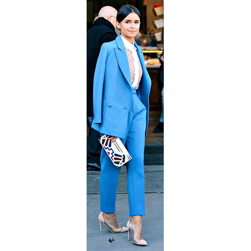 NEW Blue lady trouser suit womens business suits female formal pant suits for weddings formal office uniform work suit