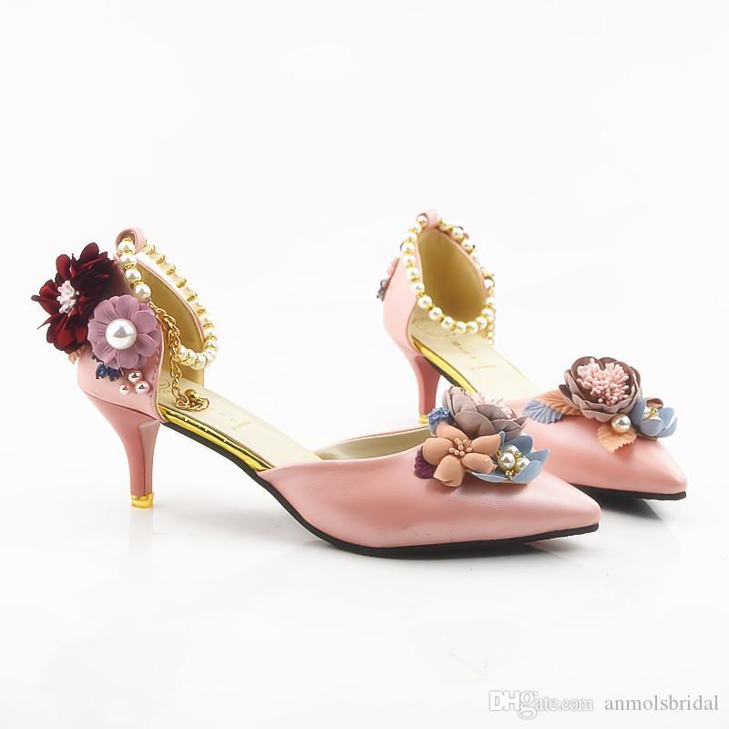 Pink Da Acquista Flower Shiny Alti Donna Sandali Scarpe Tacchi Y1nWAPOn