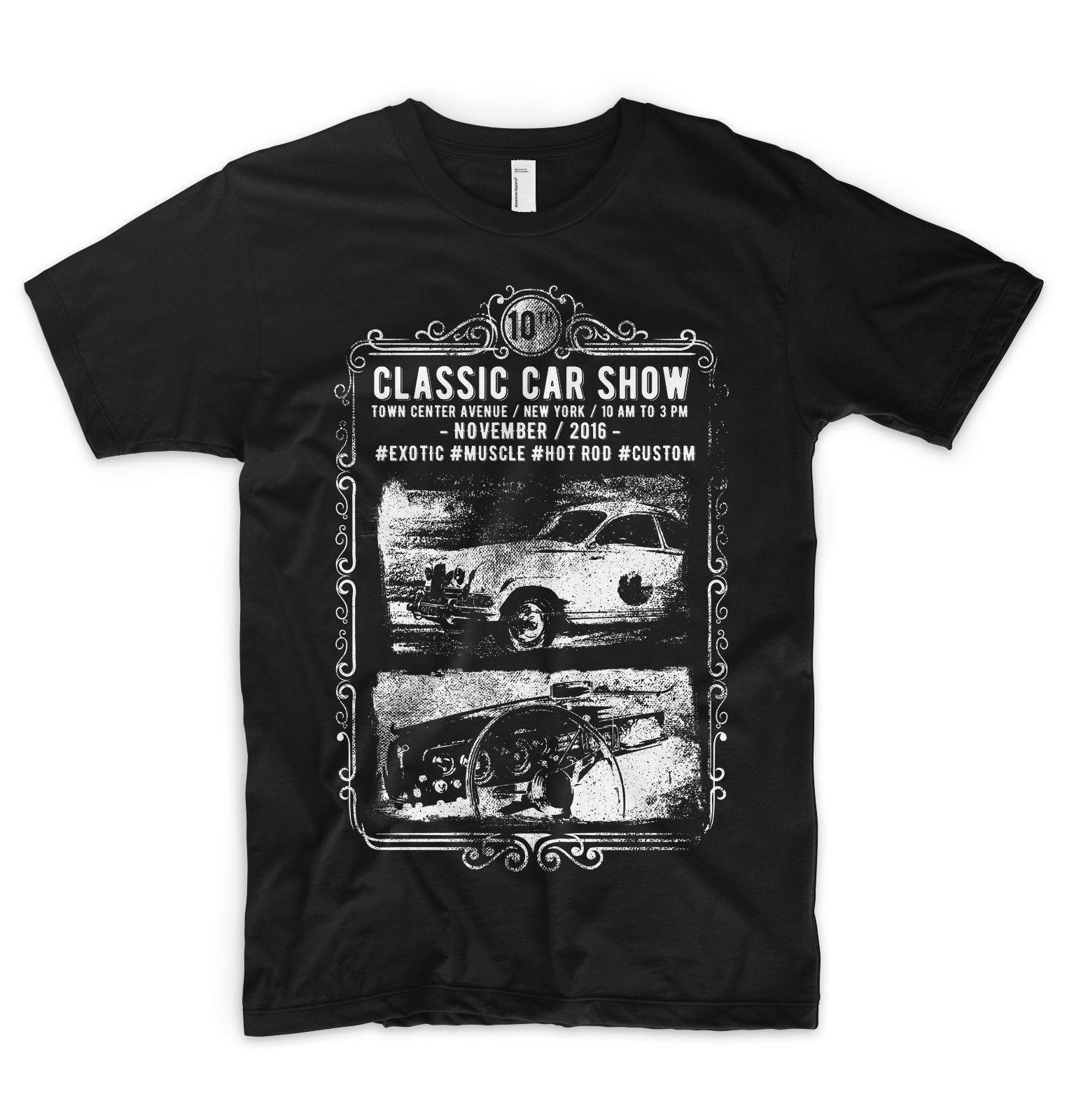 Classic Car Show T Shirt Exotic Muscle Hot Rod Racer Garage Grand - Car show t shirts