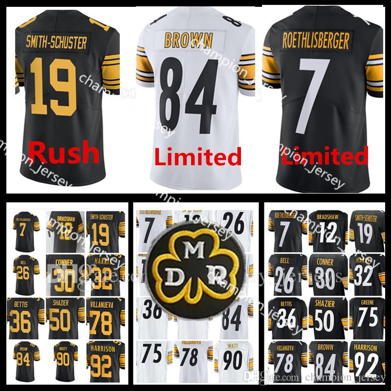 264cb9924 ... nike black game jersey d5465 07f61  low price men pittsburgh steelers  jerseys bell brown watt villanueva conner smith schuster shazier greene  harrison