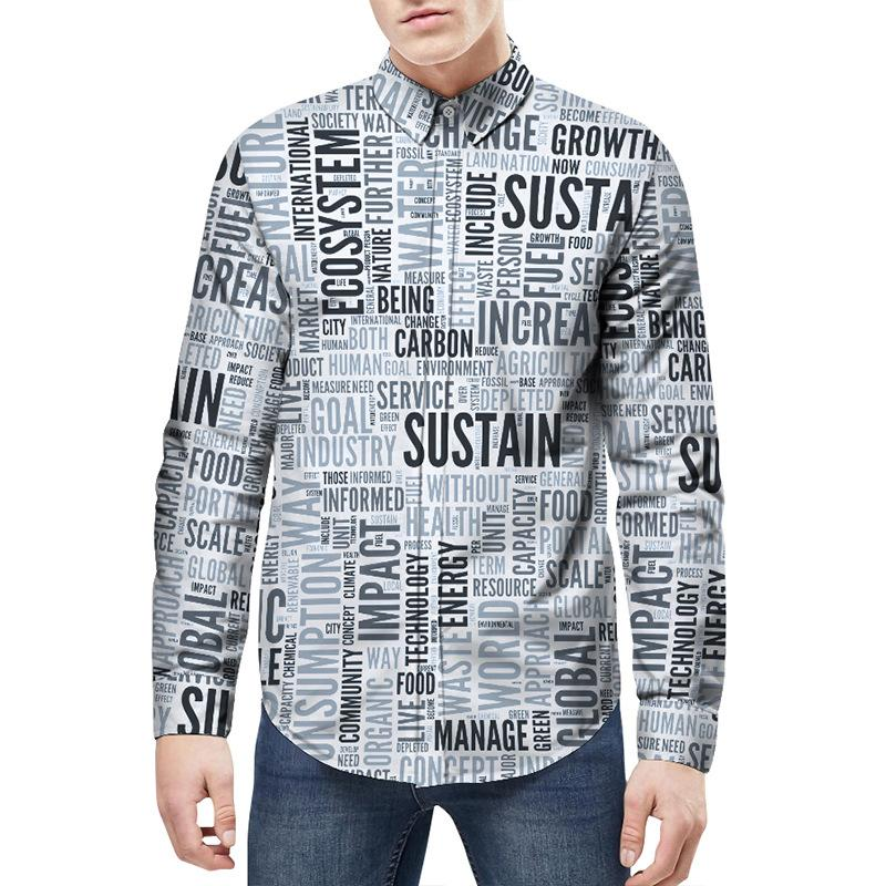 fabeafdf 2018 Retro Floral Printed Men Casual Shirts Classic Men Dress Shirt ...