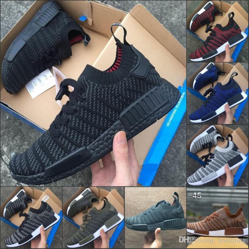 781757476b746 2019 2018 NMD Runner R1 STLT Chukka Primeknit Design For Men Women Sports  Seankers Running Shoes Fashion Mesh Breathable Sneaker 36 45 From  Xiangyihui
