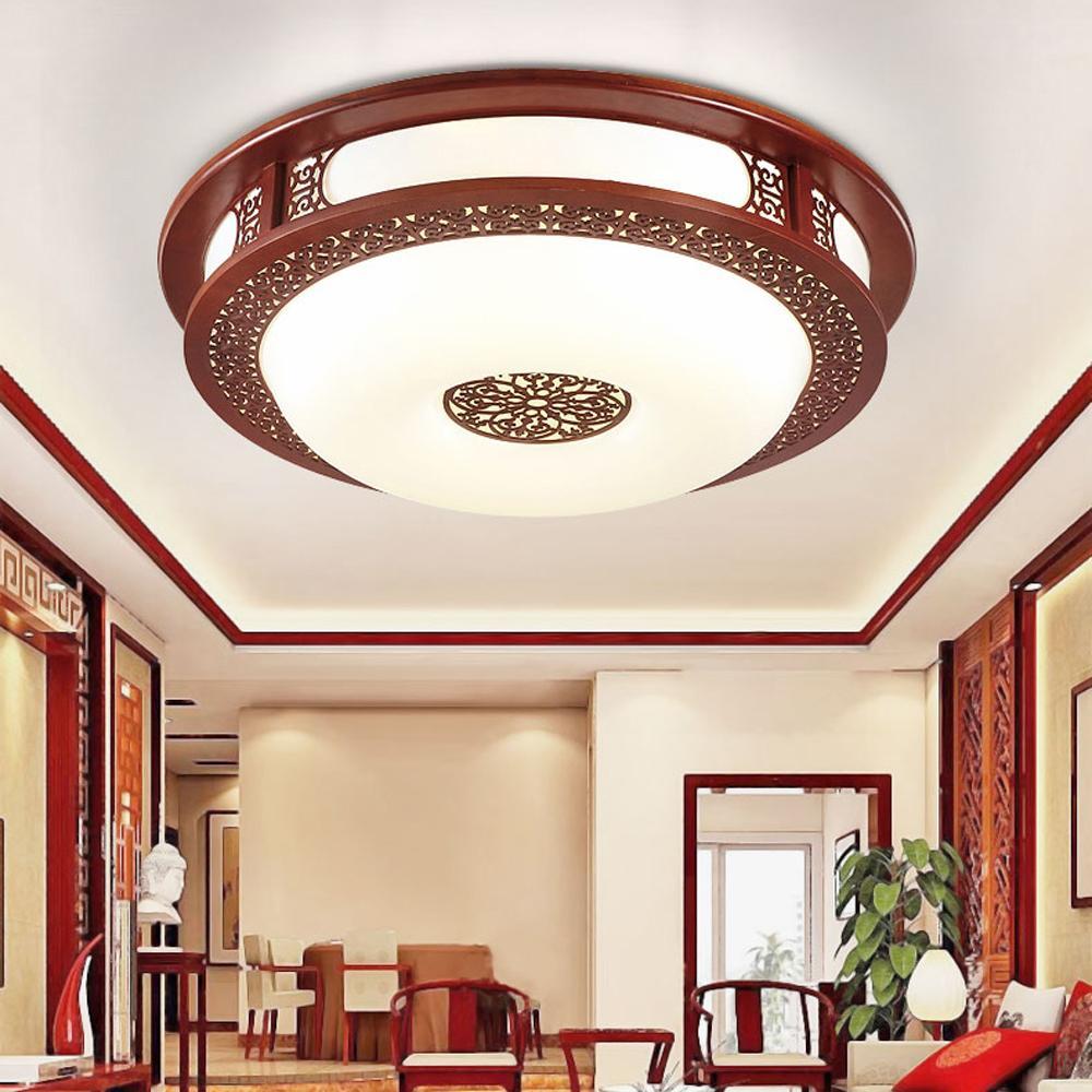 Grosshandel Led Chinesische Holz Acryl Rot Led Lampe Led Licht