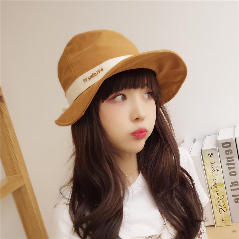 Leisure Bucket Hats Ladies Korean Style Bowknot Big Brim Fisherman Hat  Joker Sun Hat Women Shade Pure Color Summer Hat Straw Cowboy Hats From  Haoyunduo ec03f0d101