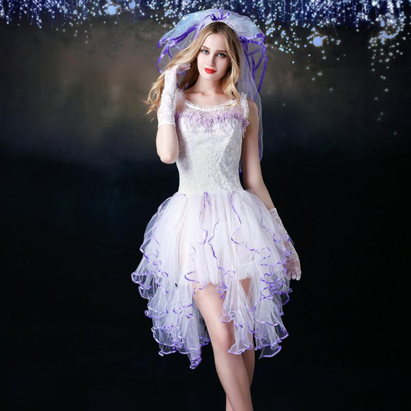 2019 New Porn Women Erotic Wedding Dress Cosplay White Lace Dress