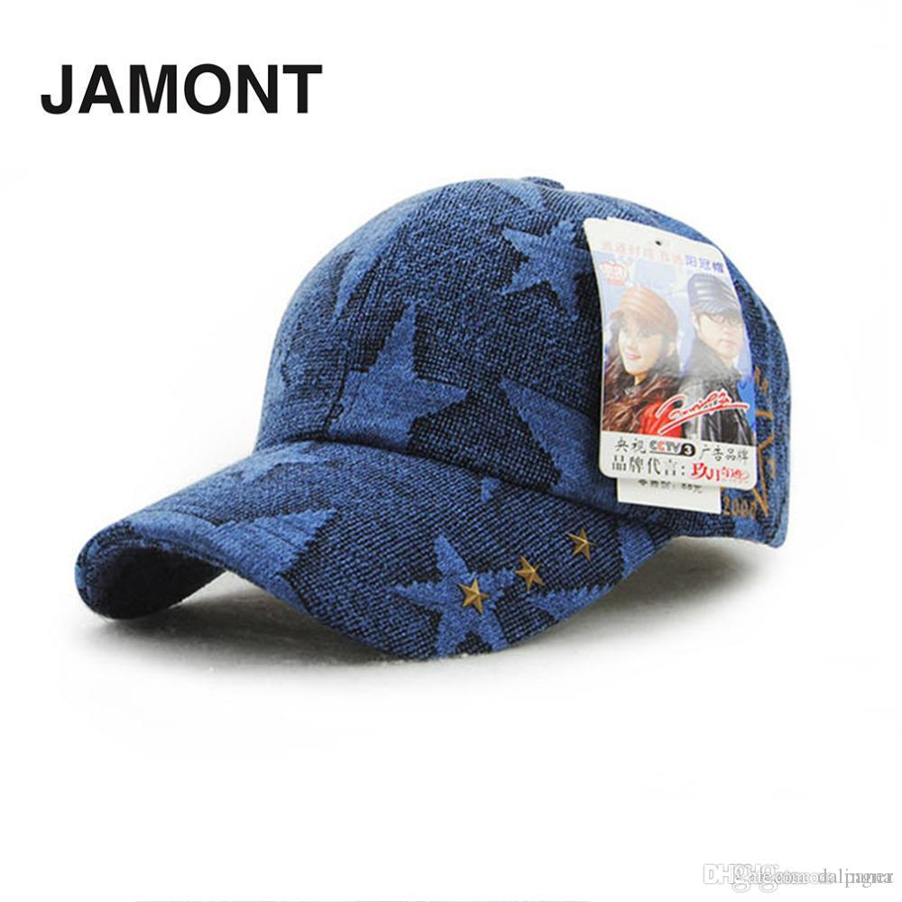 JAMONT New Fashion Baseball Caps Star Pattern Rivet Decoration ... 3106670c5b18