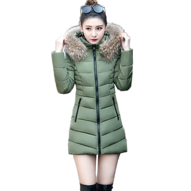 1e2724700 Big Fur collar Fashion Long Coat Hot Warm Winter Jackets Womens New 2017  Highlights Body Large size Beautiful Down Cotton Parkas