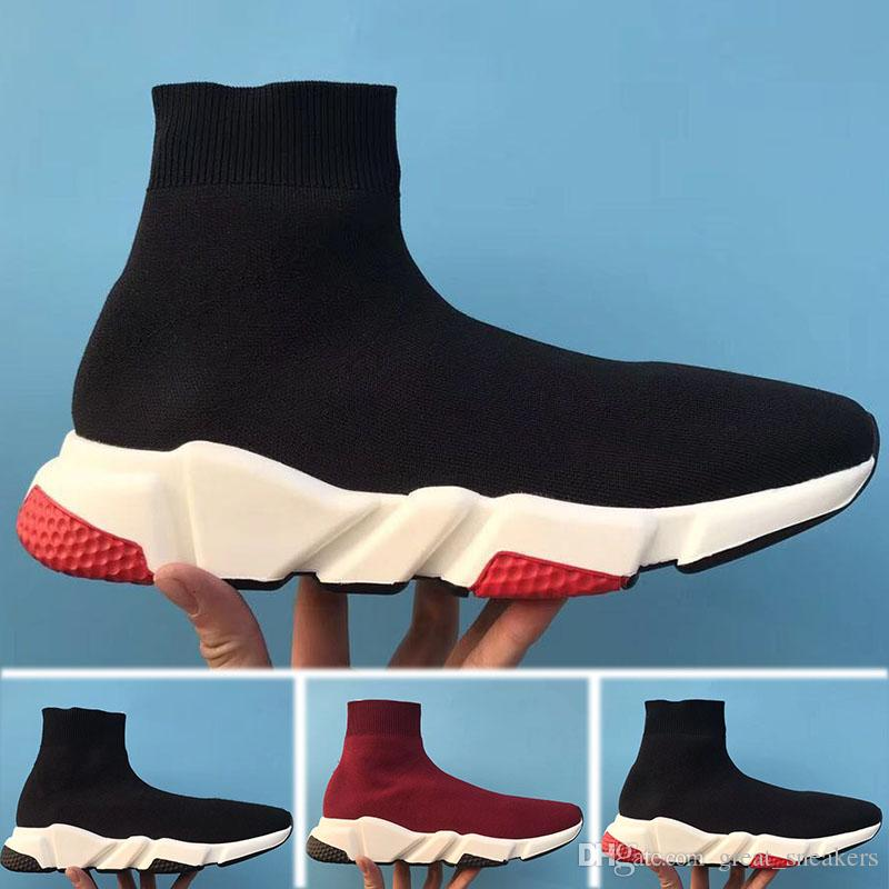 c2dd918a2cc99 Cheap 2018 HOT NEW Speed Socks Boots High Quality Speed Trainer Shoes for  Men And Women Designer Shoes Speed Stretch-knit Shoes Mid Sneakers