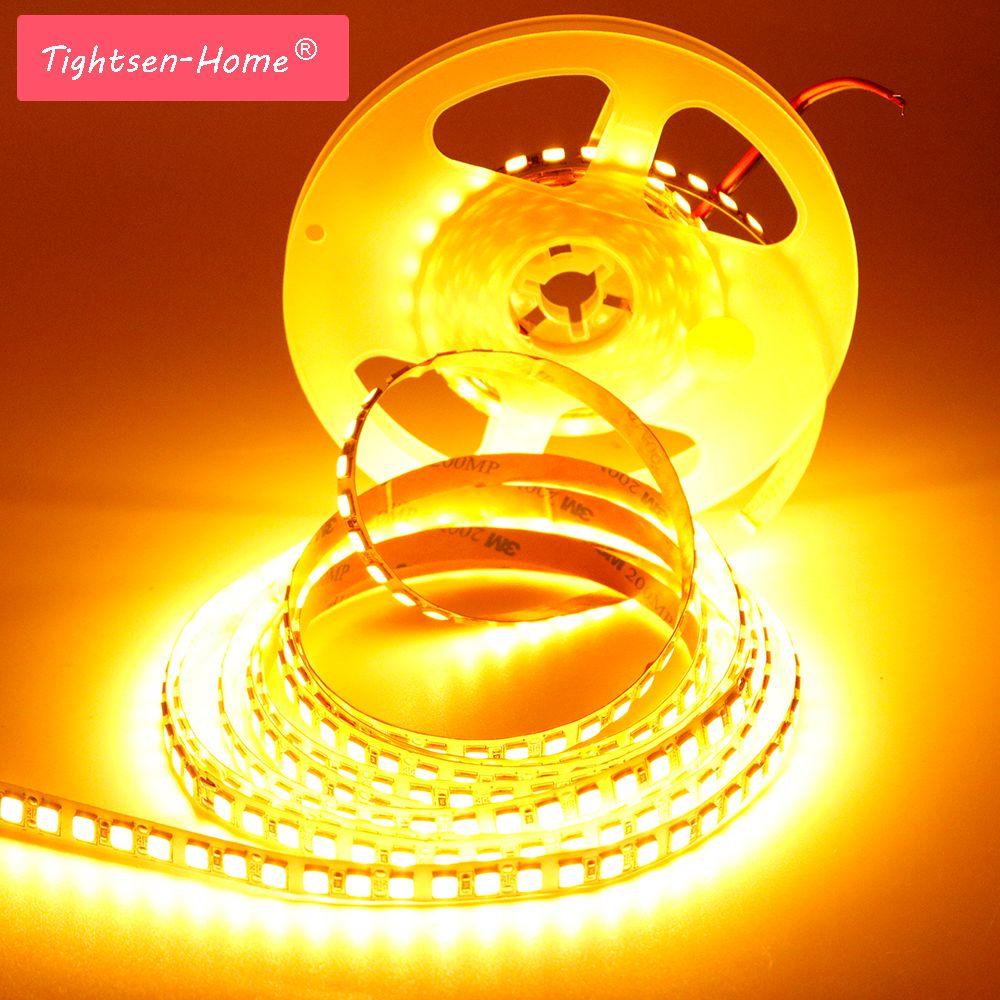 Strip Led Piu Luminosi striscia led 5m smd 5054 600 led 120leds / m luce nastro flessibile dc12v  più luminosa di 5050 2835 5630 bianco freddo / blu ghiaccio / rosa / rosso