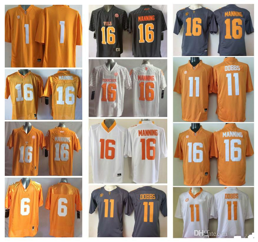 56b243bcd3f 16 Peyton Manning 11 Joshua Dobbs 1 Jalen Hurd Tennessee Volunteers ...