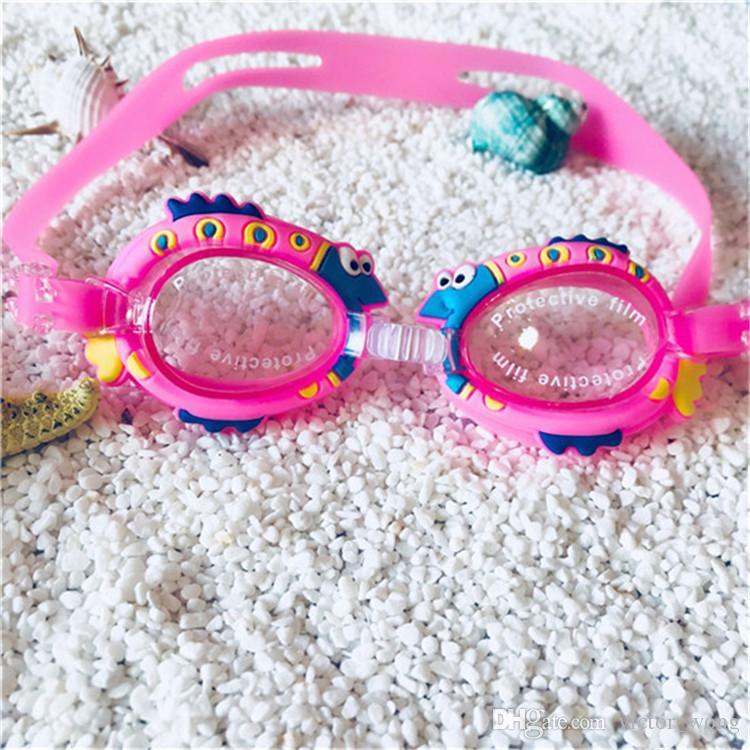 Crianças Antifog À Prova D 'Água Óculos de Natação para Meninos e Grils Patter Dos Desenhos Animados Óculos de Mergulho Com Tampões de Ouvido Silicone Óculos de Natação Óculos